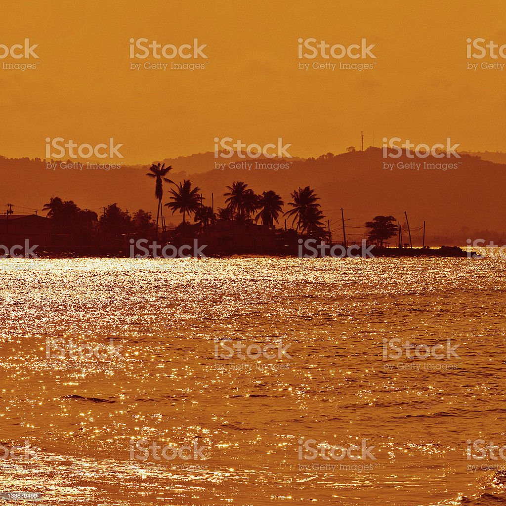caribbean sunset royalty-free stock photo