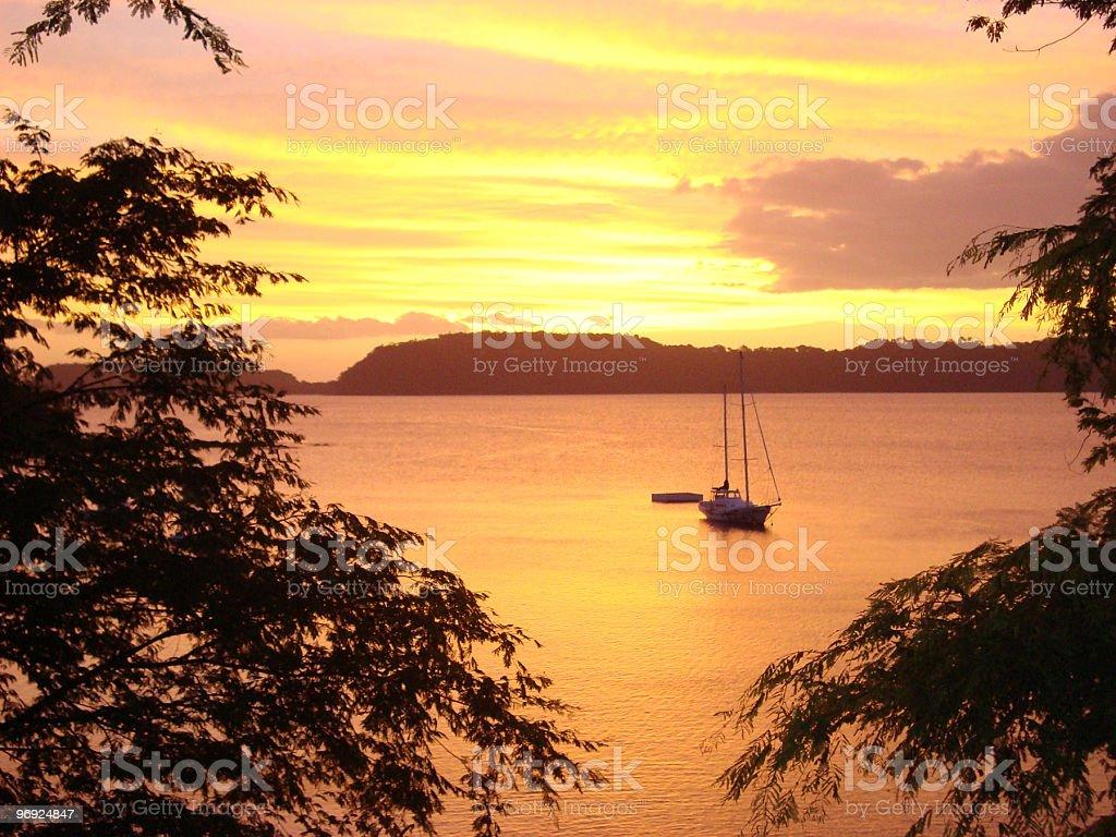 Caribbean Sunset royalty-free stock photo