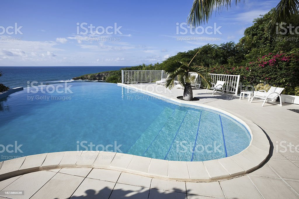 Caribbean Swimming Pool in Guadeloupe royalty-free stock photo