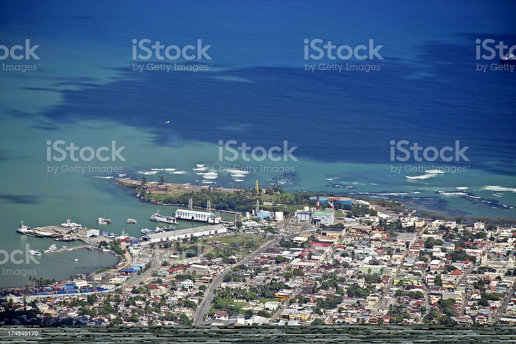 caribbean town royalty-free stock photo