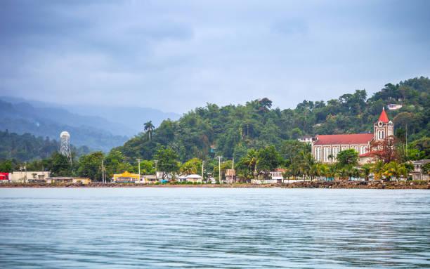 Caribbean town - Port Antonio, Jamaica stock photo