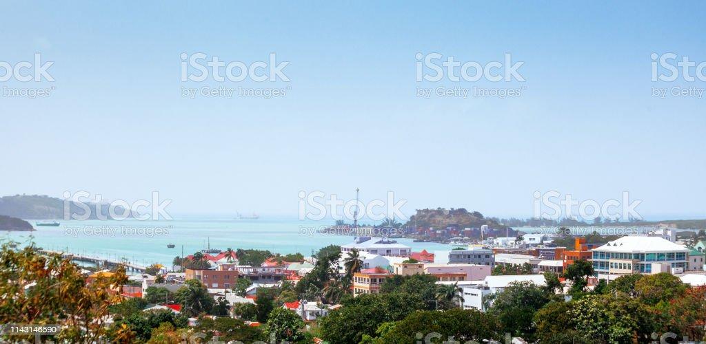 Caribbean town - St John's, Antigua & Barbuda stock photo