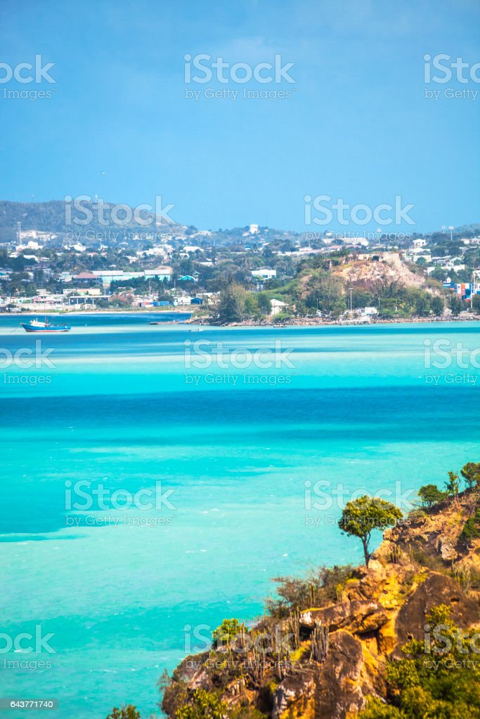Caribbean town. St John's, Antigua & Barbuda. stock photo