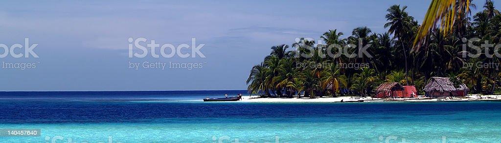 caribbean tropical white sand beach royalty-free stock photo