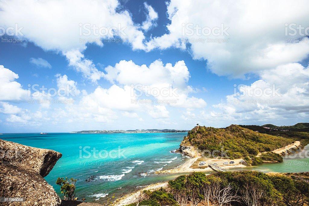 Caribbean view. Antigua & Barbuda. stock photo