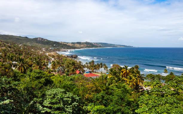 Caribbean view - Bathsheba, Barbados stock photo