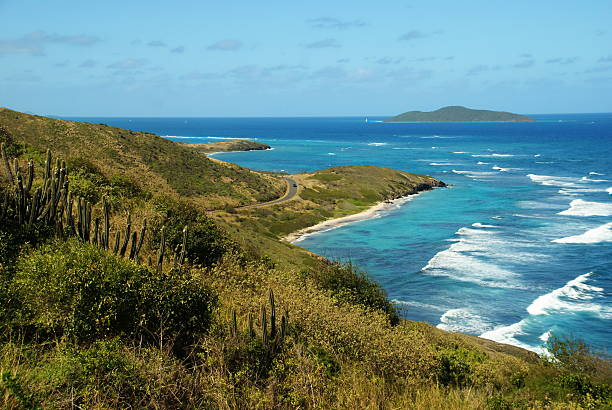 Caribbean View from Point Udall, USVI stock photo