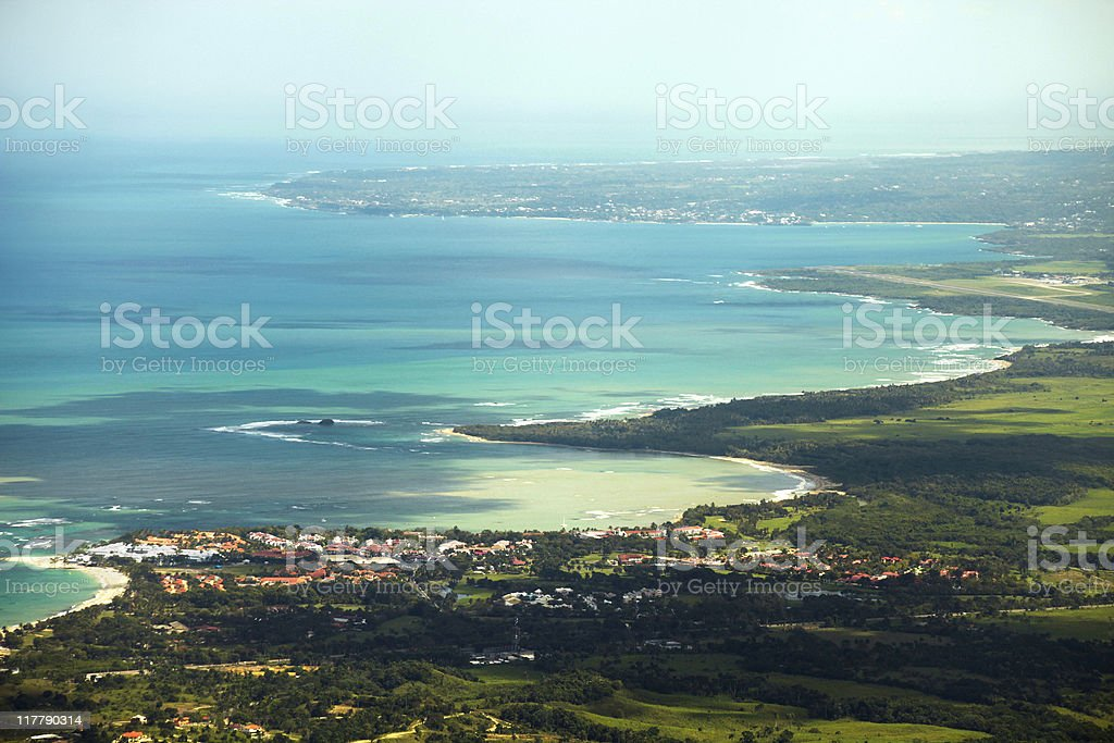 caribbean view royalty-free stock photo