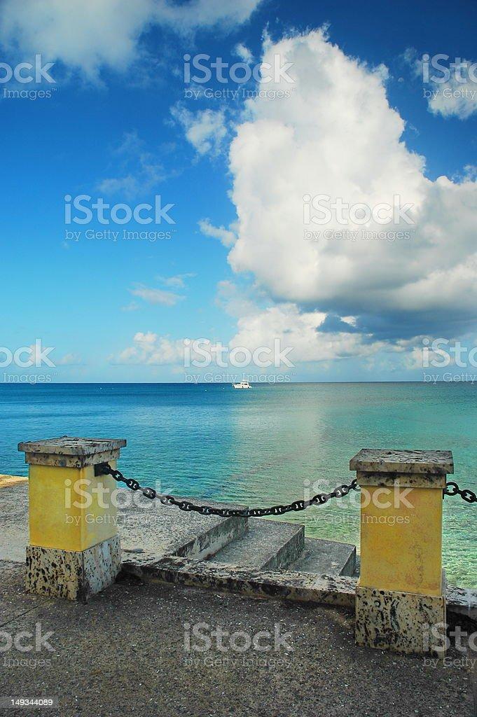 Caribbean View St. Croix, US Virgin Islands stock photo