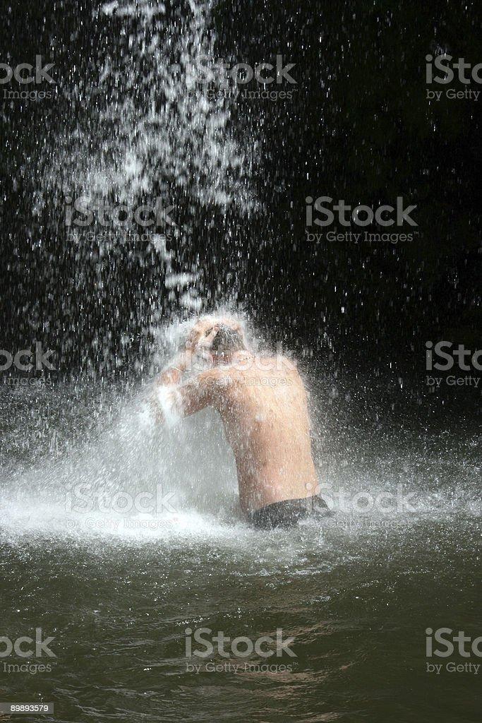 Cascada del Caribe foto de stock libre de derechos