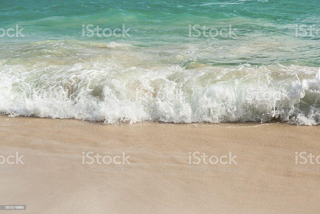 Caribbean waves royalty-free stock photo