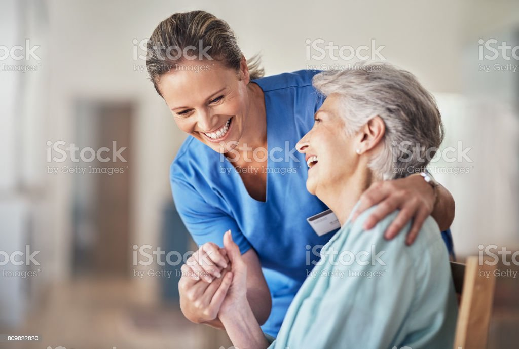 Caring comes naturally to her stock photo