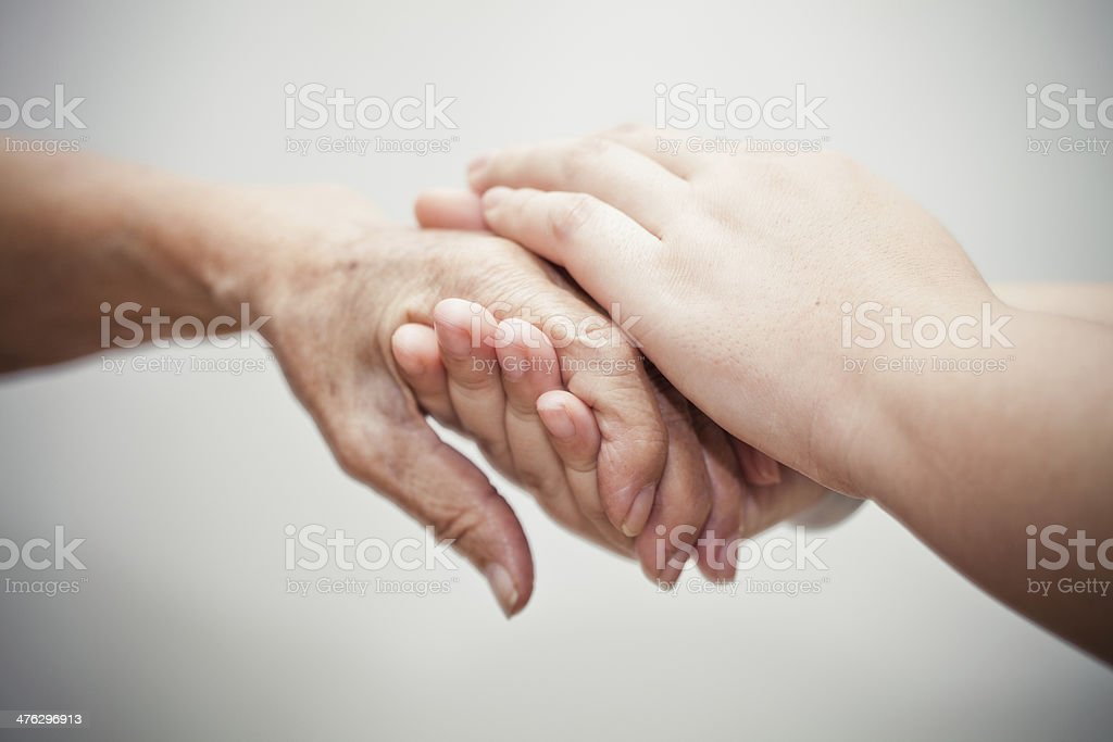 Caring comforting hands Caring comforting hands 60-69 Years Stock Photo