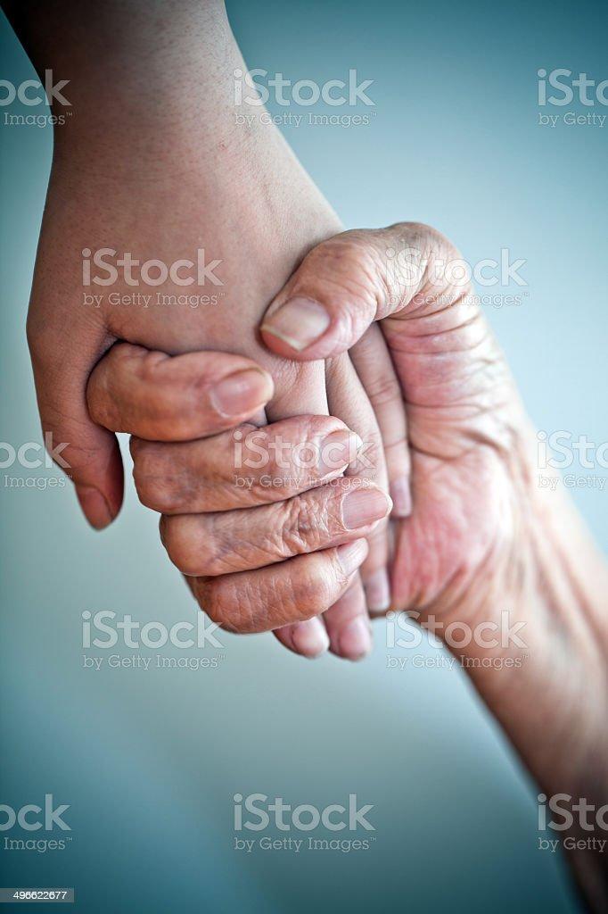 Fürsorgliche beruhigenden Hände – Foto