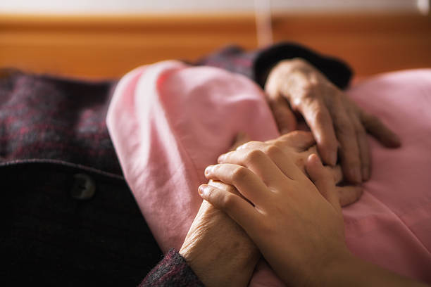 caring elderly - death stock photos and pictures