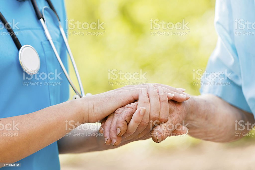 Caring for Elderly stock photo