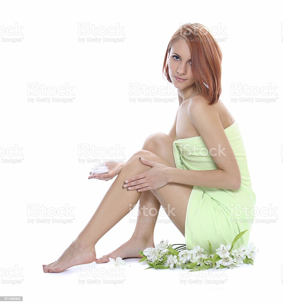 caring for legs royalty-free stock photo