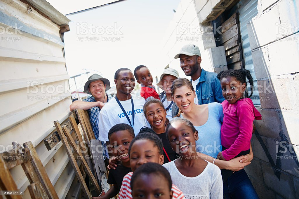 Caring for the community stock photo