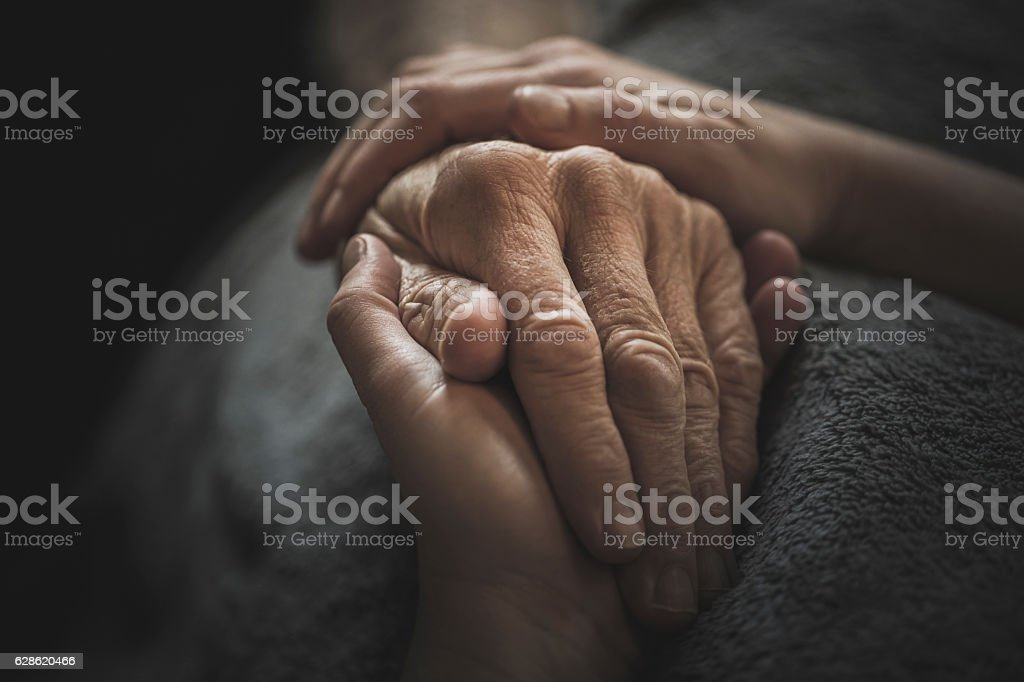 Caring for the Elderly stock photo