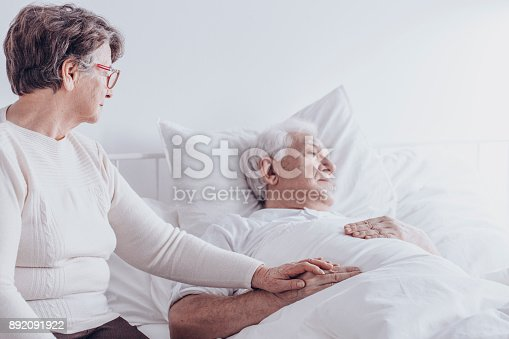 886711404 istock photo Caring senior woman and husband 892091922
