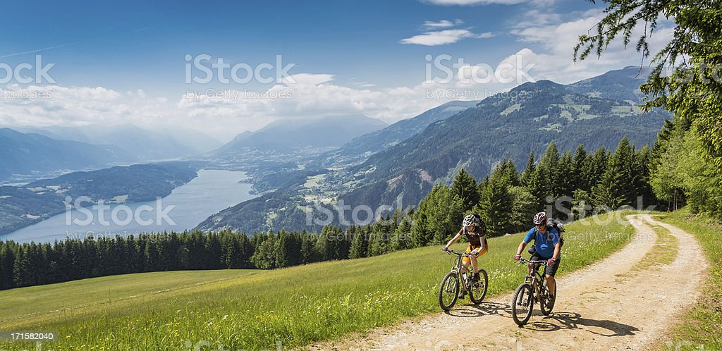 Carinthian holiday biking, Austria stock photo