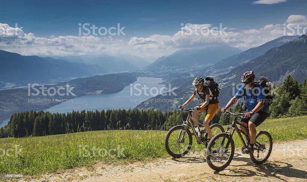 Carinthian spring biking, Austria royalty-free stock photo
