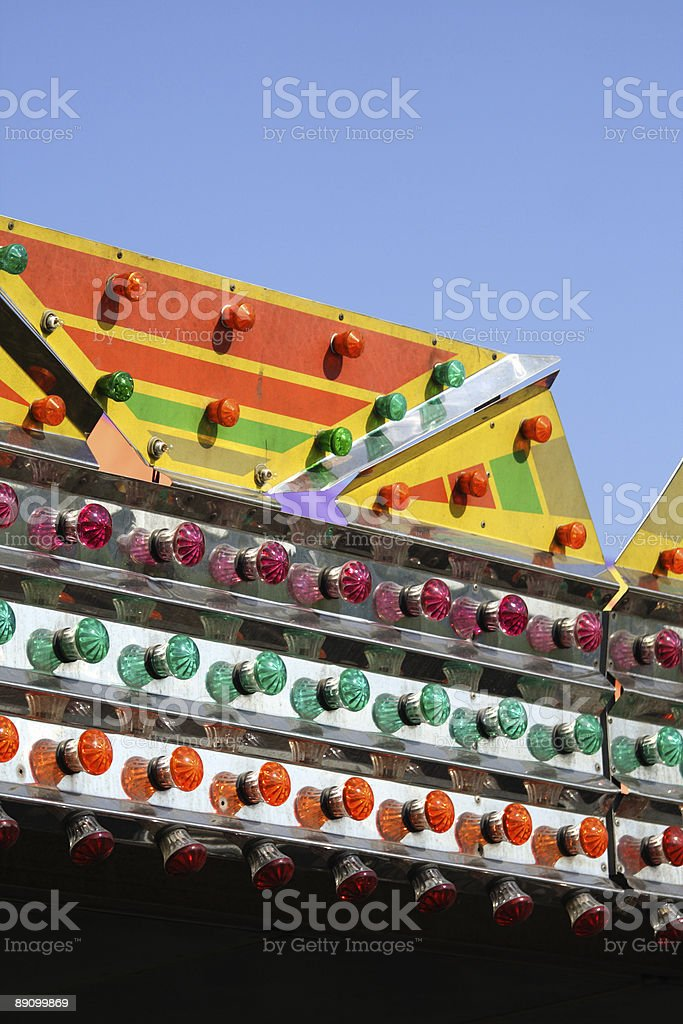 Luces carinval ride foto de stock libre de derechos