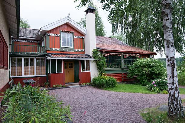 Carl Larsson's home at Sundborn stock photo