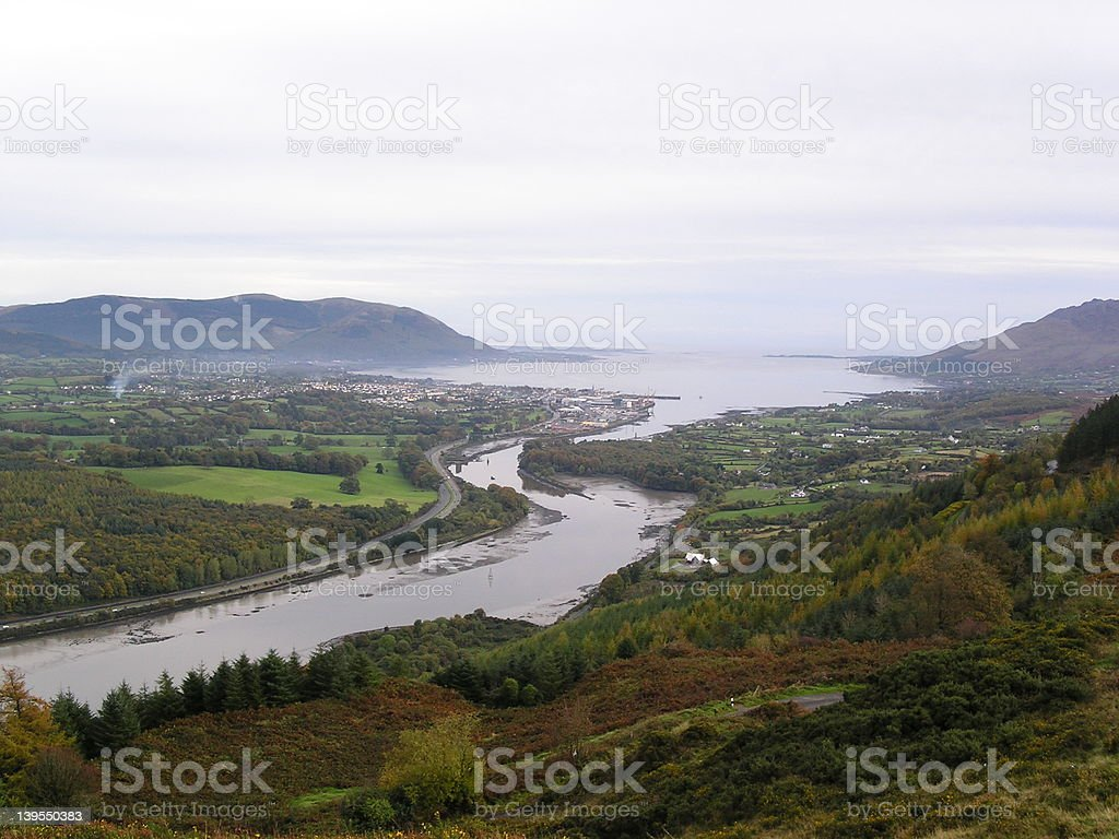 Carlingford loch Northern Ireland stock photo