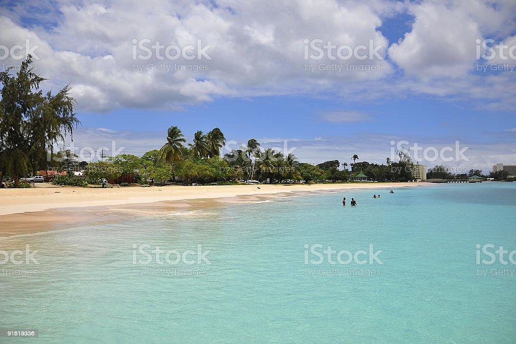 Carlisle Bay, Barbados royalty-free stock photo