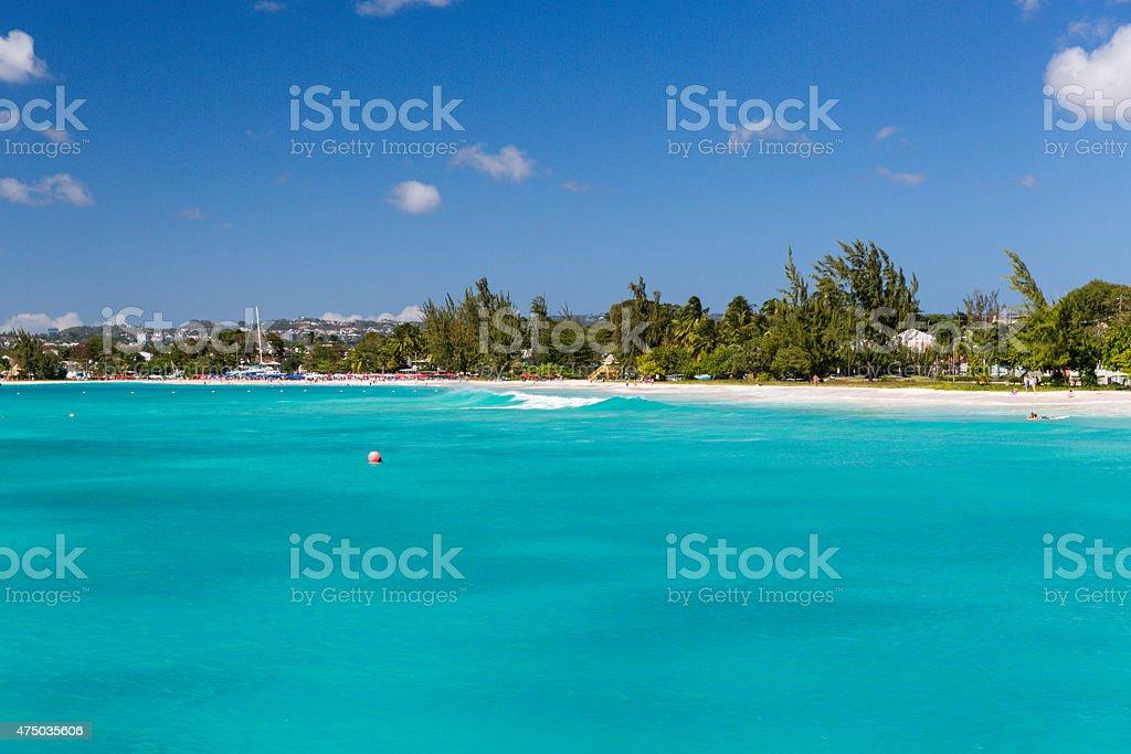 Carlisle Bay in Bridgetown Barbados stock photo