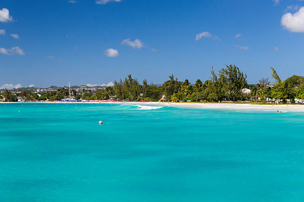 Carlisle Bay in Bridgetown Barbados stock photo