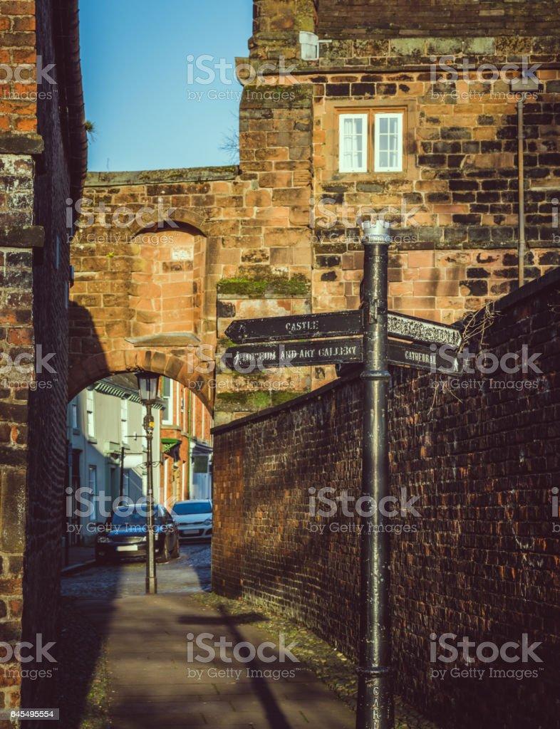 Carlisle signpost stock photo