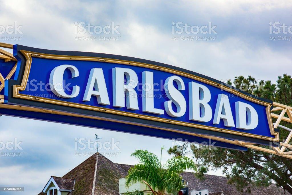 Carlsbad California Sign stock photo
