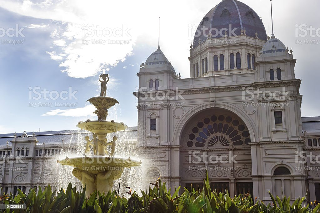 Carlton Gardens' fountain on a pretty day royalty-free stock photo