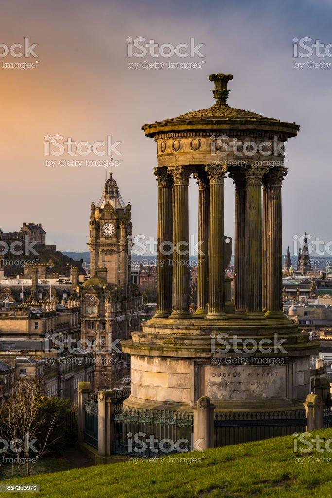 Carlton Hill in Edinburgh stock photo