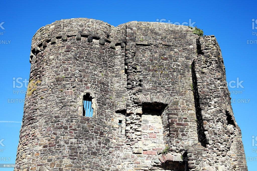 Carmarthen Castle, Wales stock photo