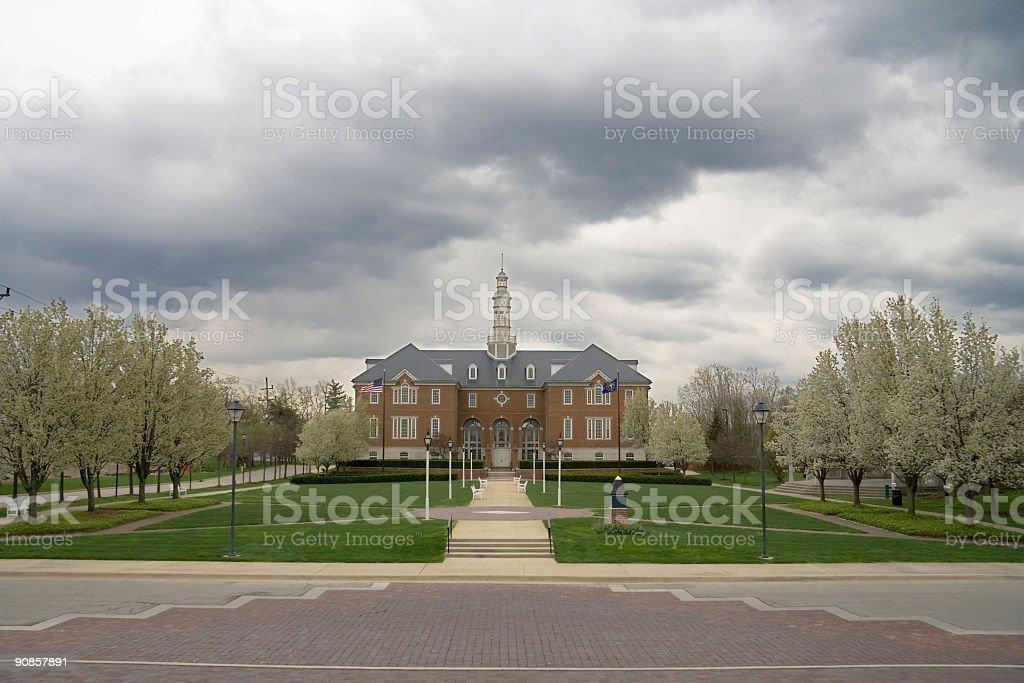 Carmel City Hall, wide angle royalty-free stock photo