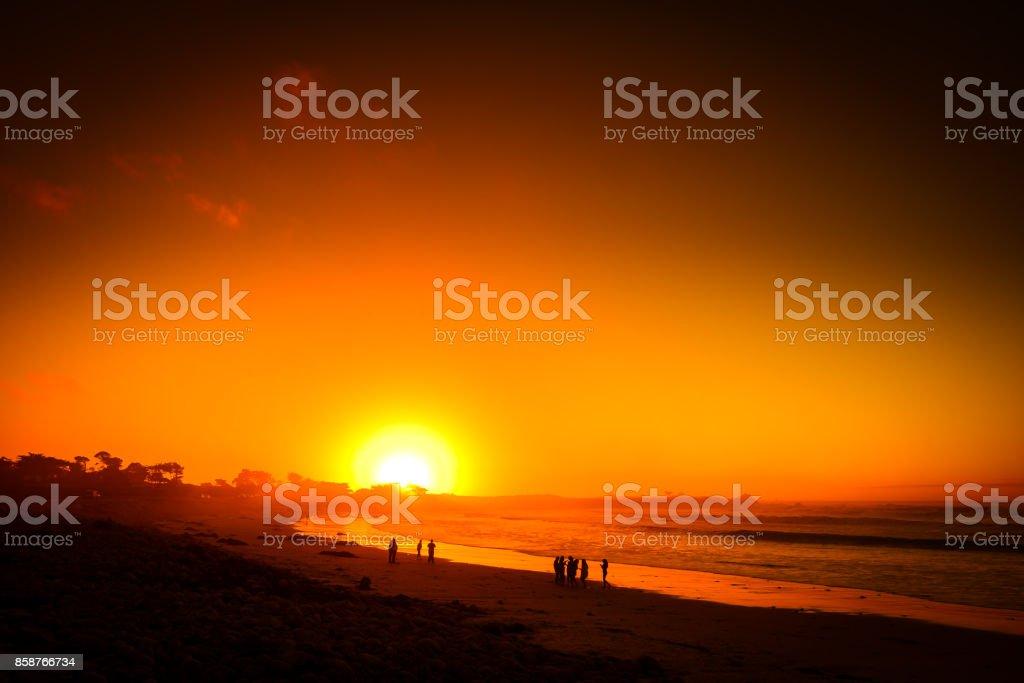 Carmel Sunset stock photo