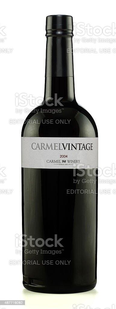 Carmel Vintage wine 2004 stock photo