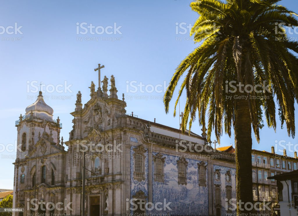 Carmelitas Church Porto, Portugal stock photo