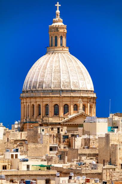 Carmelite church in Valletta, Malta stock photo