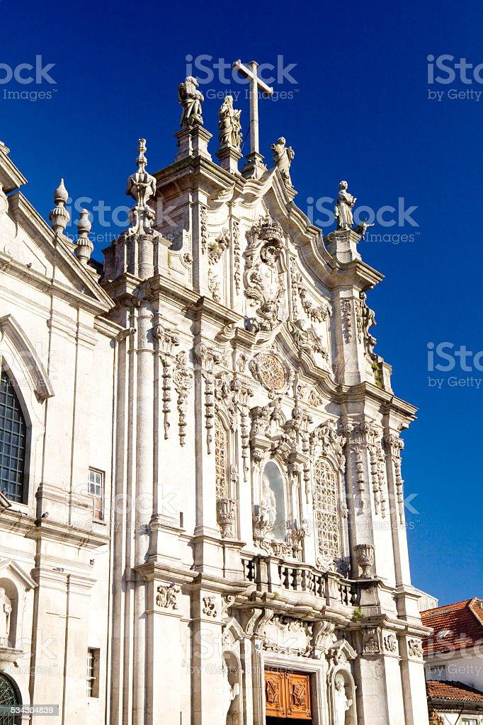 Carmo Church in Porto stock photo