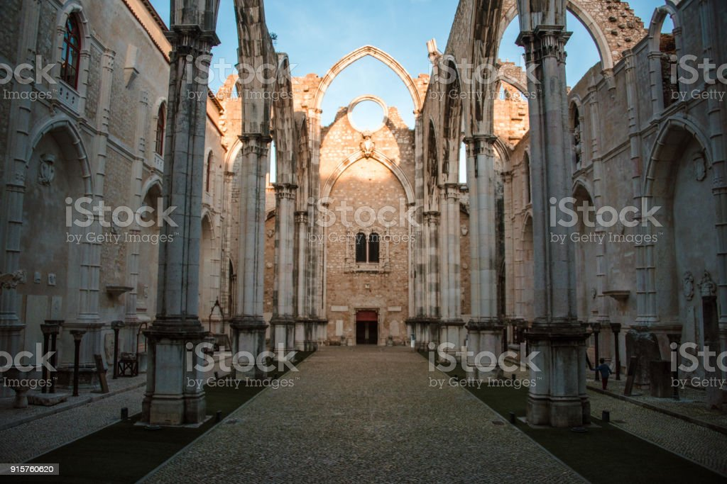 Carmo Church, Lisbon stock photo