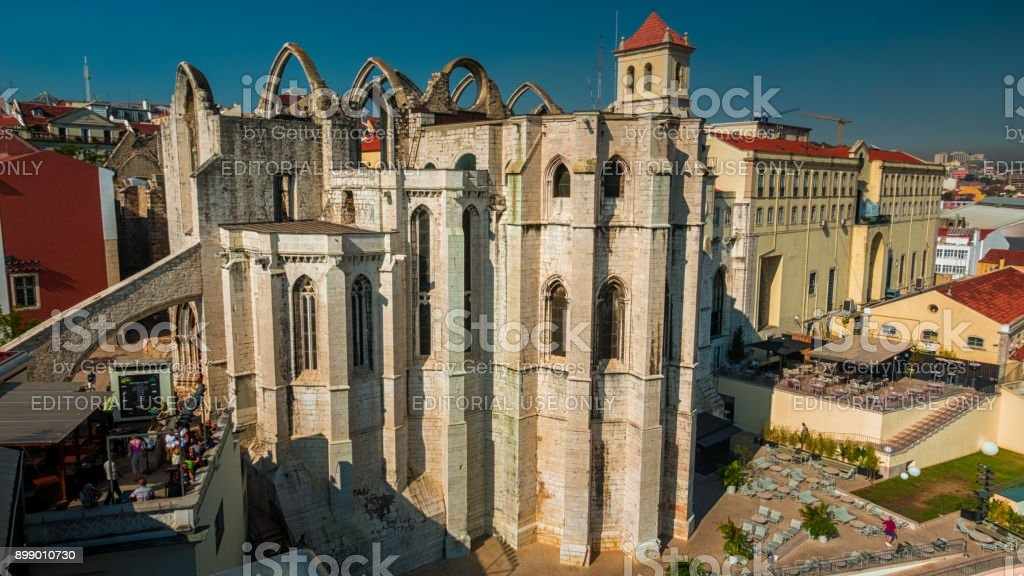 Convento do Carmo, Lisbon, Portugal stock photo