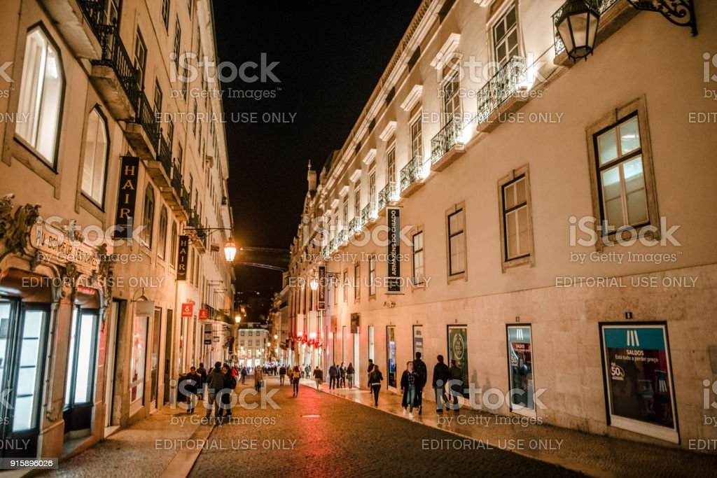 Rua do Carmo, Lisbon stock photo