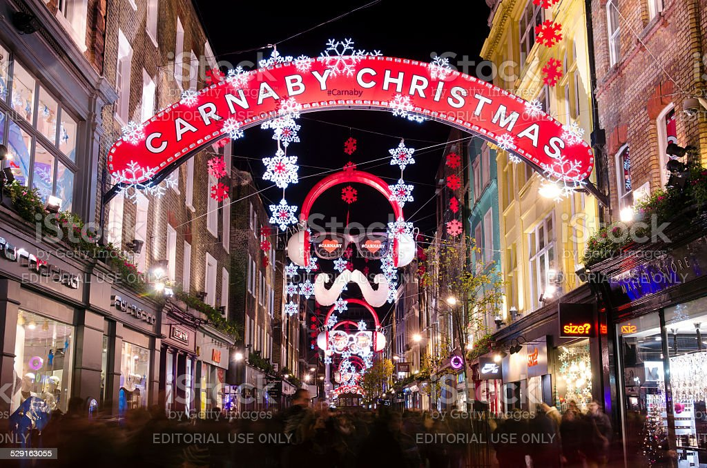 Immagini Natale Londra.Carnaby Street Natale Shopping A Londra Fotografie Stock E Altre
