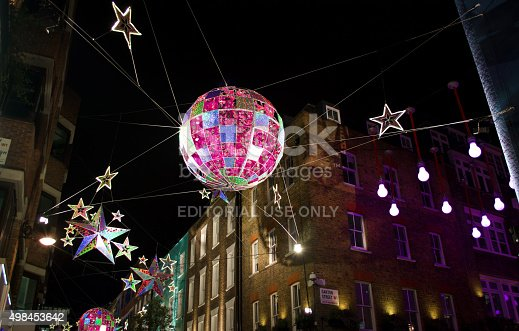 carnaby street london christmas decorations stock photo more pictures of 2015 istock - London Christmas Decorations