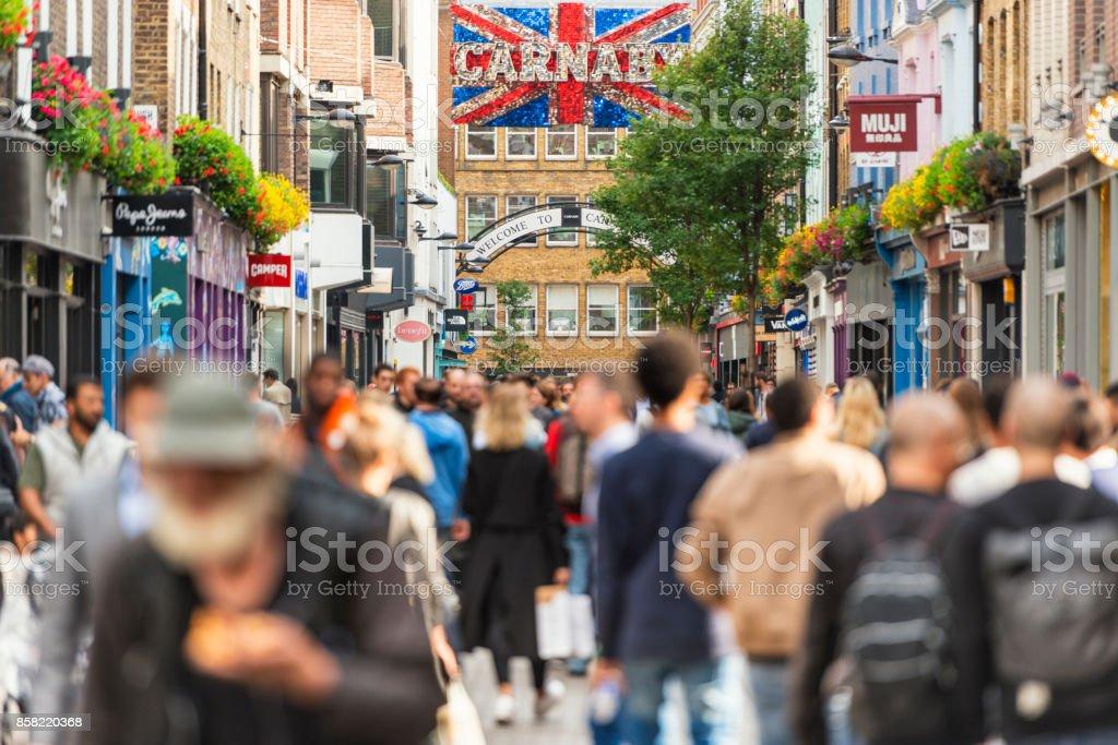 Carnaby Street London stock photo