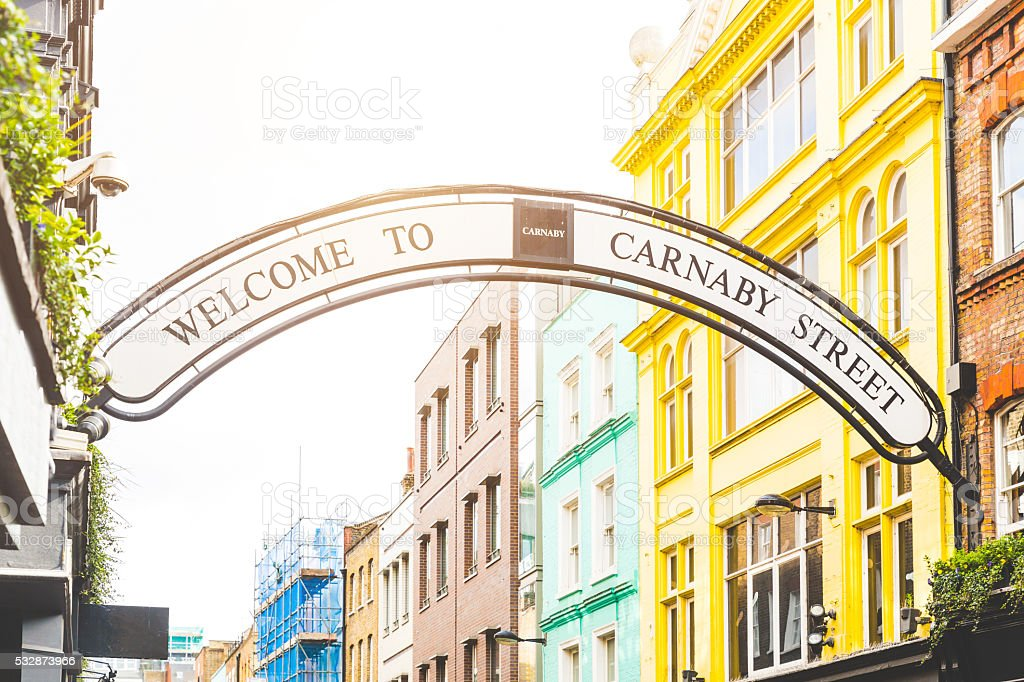 Carnaby street sign in London stock photo
